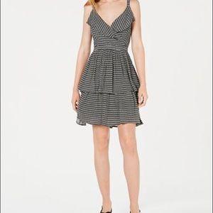 Bar III Printed Ruffled Dress